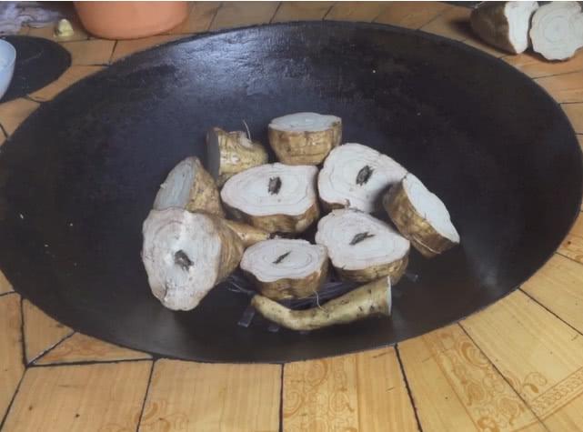 Cooking Pueraria mirifica