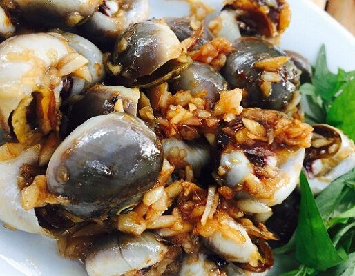 Pan-broiled Periwinkle In Garlic Sauce