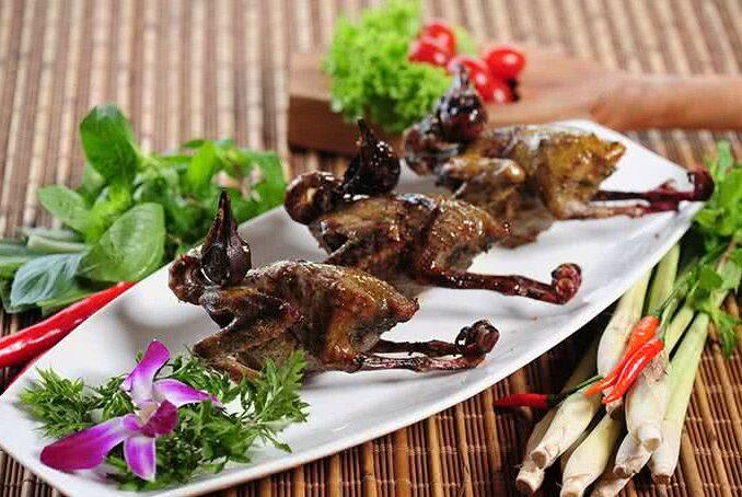 Pan-roasted Squabs in Nuoc Tau Sauce