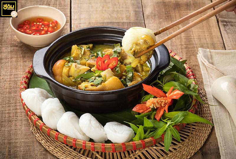 Pork gia cay served with Vietnamese rice vermicelli
