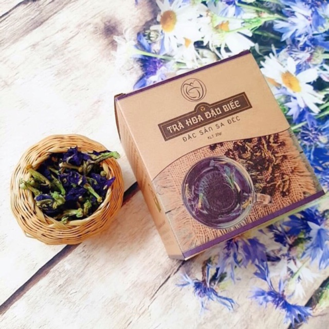 Vietnamese butterfly blue pea tea