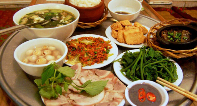 Vietnamese home meal
