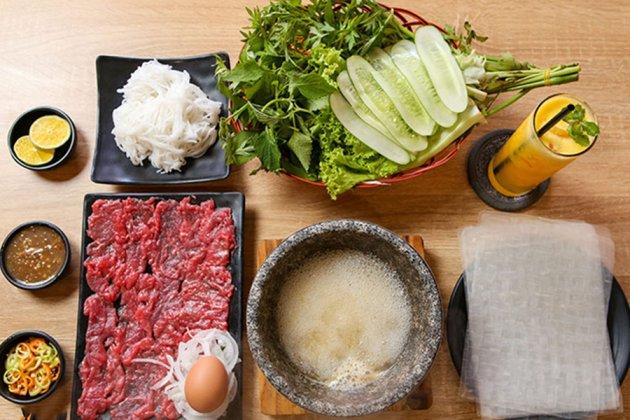 beef dipped in vinegar stone bowl