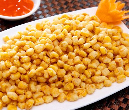 fried corn kernels in butter