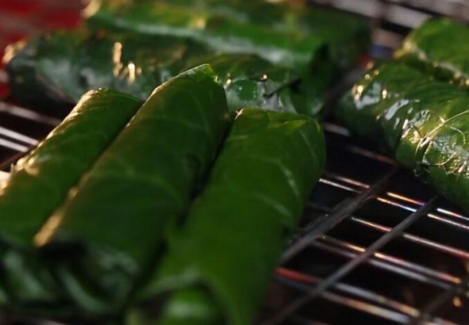 grilling fish rolls