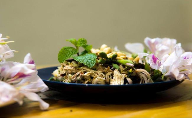 mountain ebony flower salad