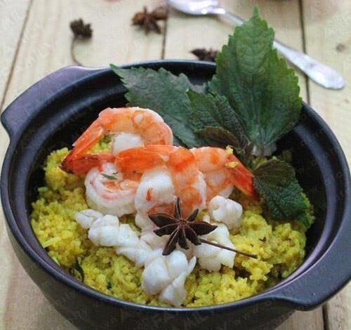 seafood com ni curry rice