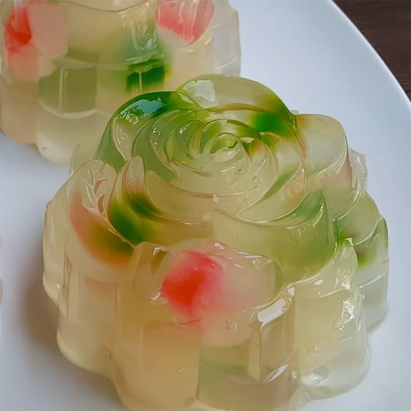 tri-color longan agar jelly 2
