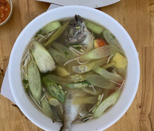 Brassy chub sour soup