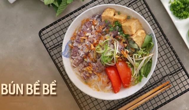 Vietnamese mantis shrimp noodle soup