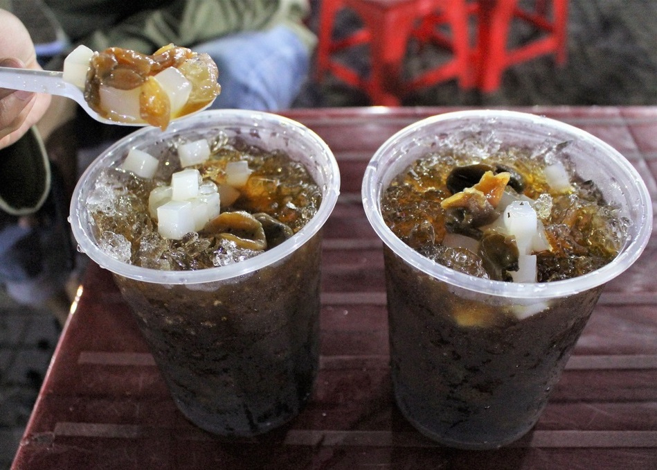 coconut jelly ginseng with dried longan