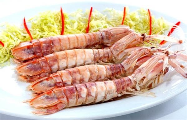 ginger-steamed mantis shrimps