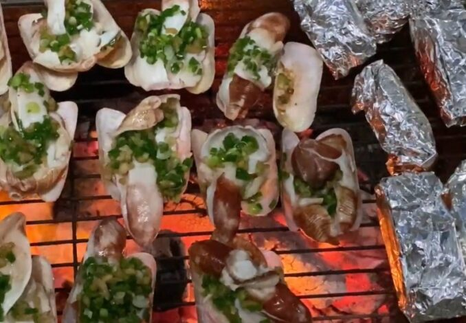 grilling snout otter clams