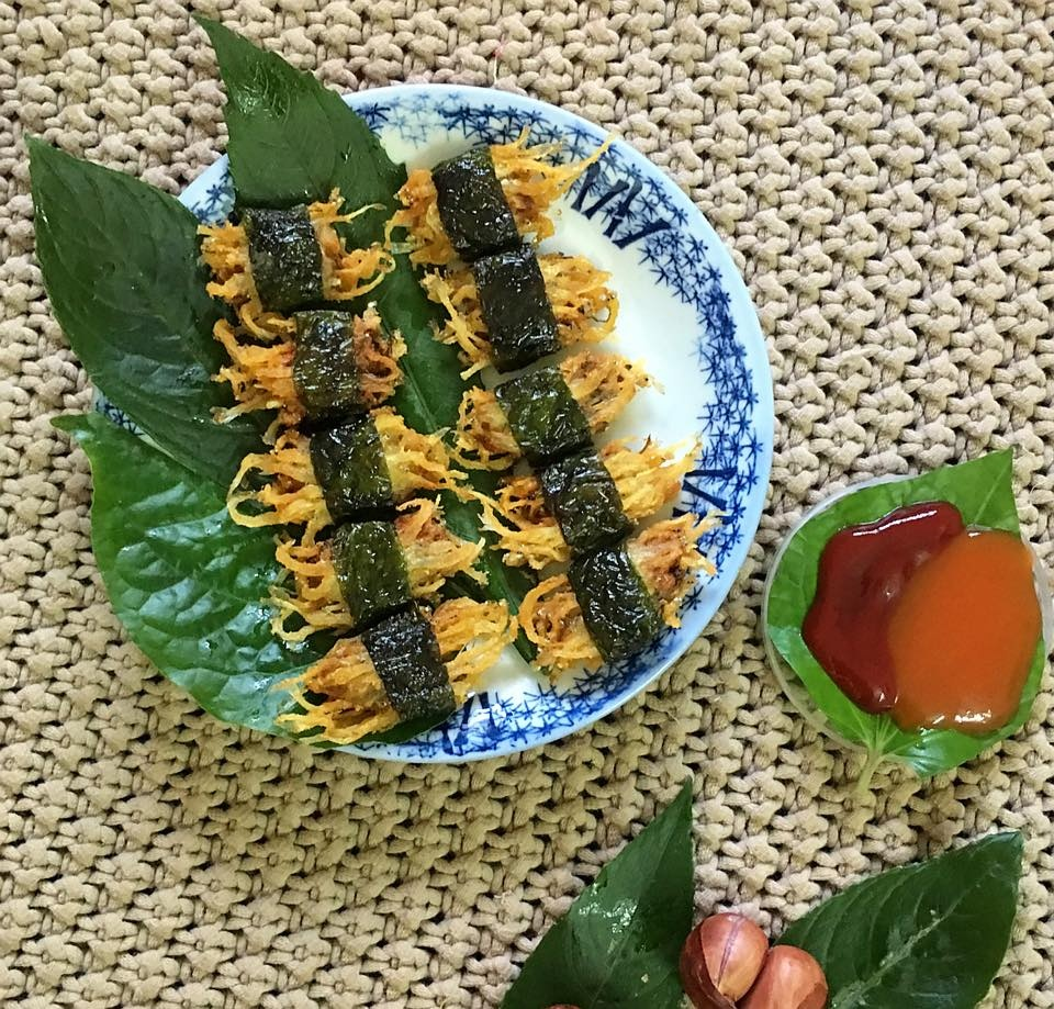 noodlefish fistcakes with lolot leaves
