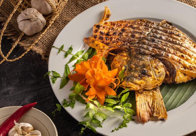 roasted fish with mac khen pepper