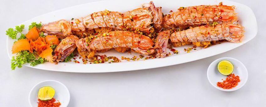 roasted mantis shrimps