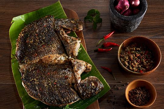 roasted tilapia with mac khen pepper