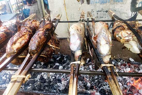 roasting fish