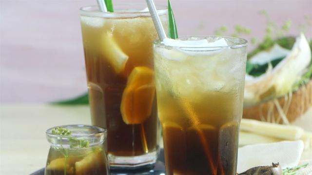 serving coconut ginseng