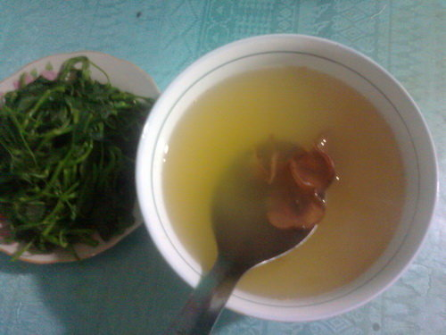 Boiled vegetable water with cowa mangosteen