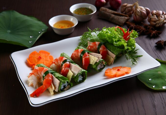 Lettuce Rolls with Rice Wine Lees