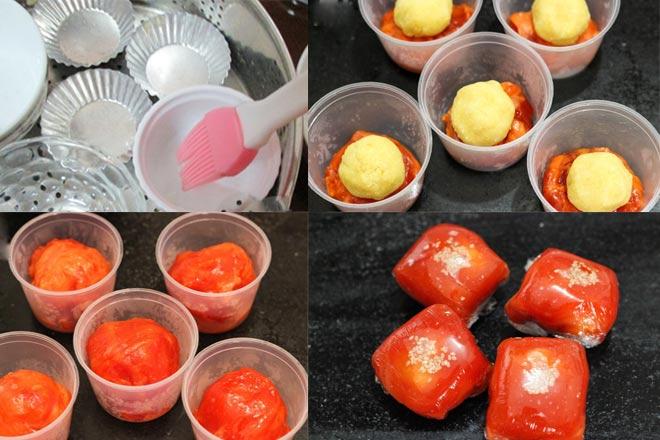 Making gac translucent dumplings