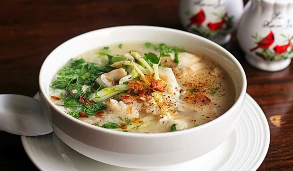 Marble goby congee