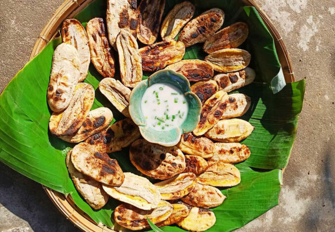 Roasted Pressed Bananas with Coconut Milk