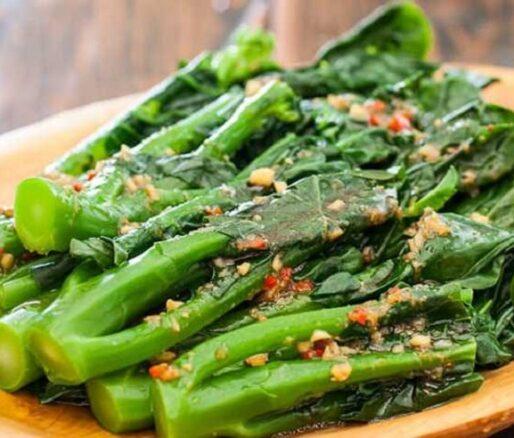 Sauteed Asian broccoli with Garlic