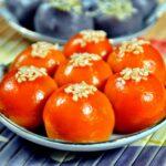 Vietnamese gac dumplings