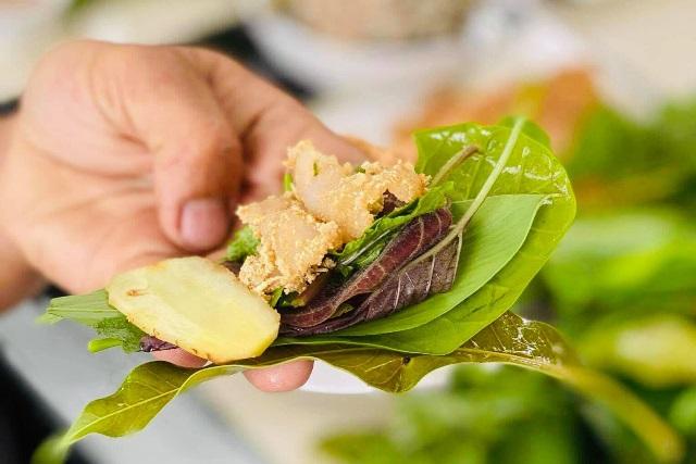 Galangal-cured spurdog shark salad