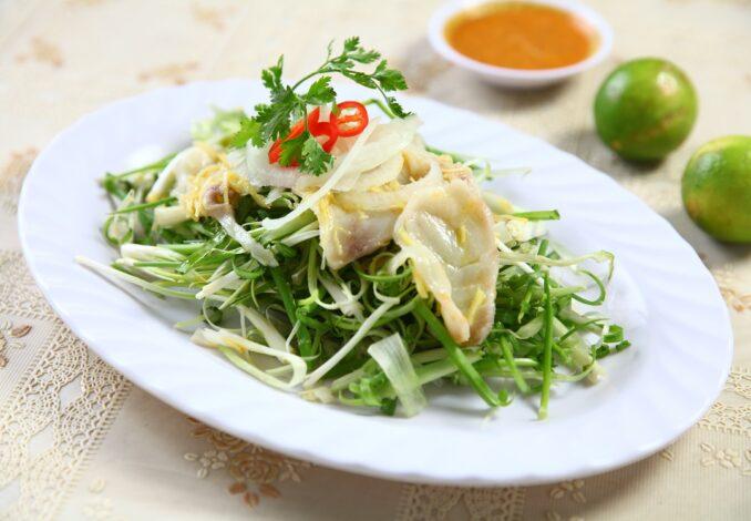 lime-cured barramundi salad