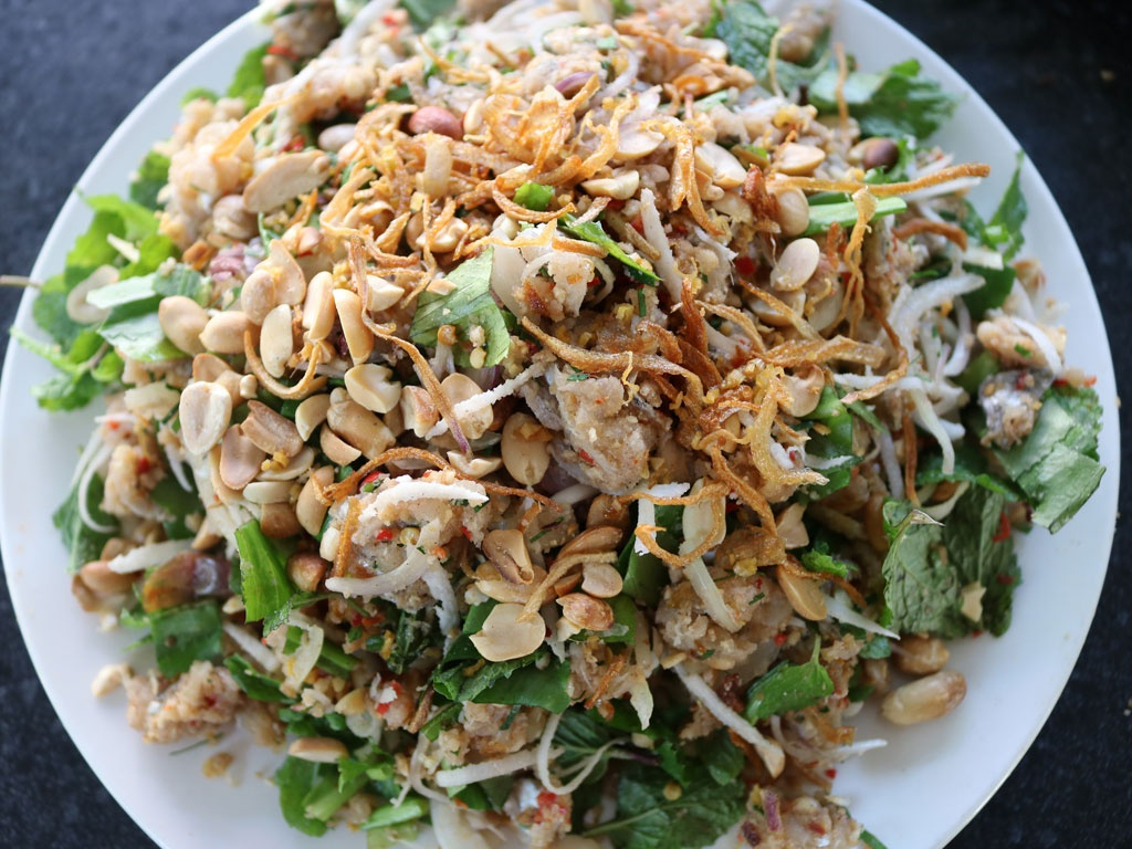 lime-cured hairtail salad