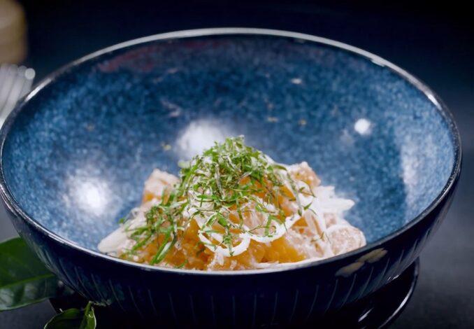 lime-cured salmon salad