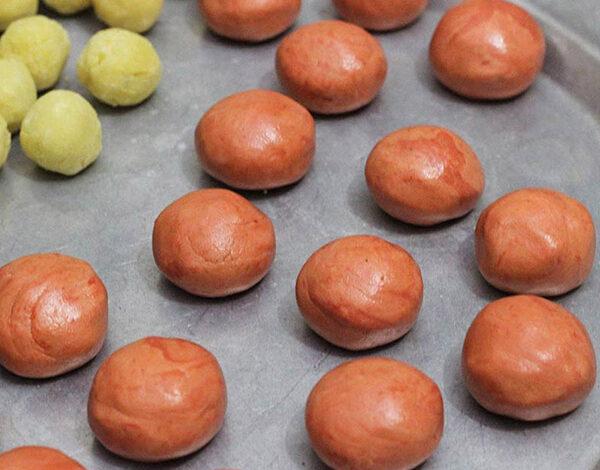 mung bean balls and gac balls