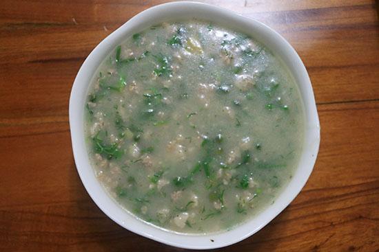 pea eggplant congee