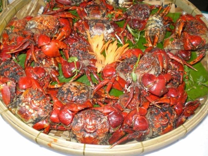 roasted sad-faced crabs (Neosarmatium smithi)