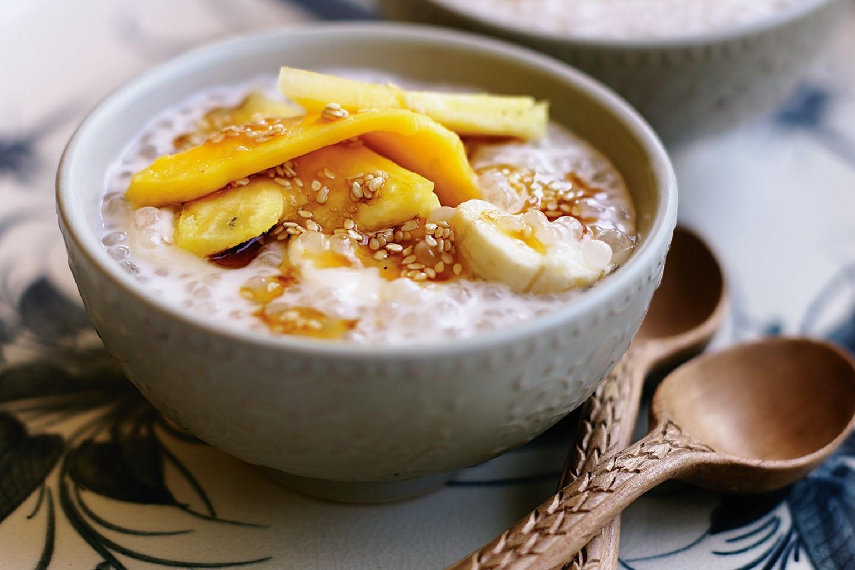 Banana Sweet Soup with Tapioca Pearls
