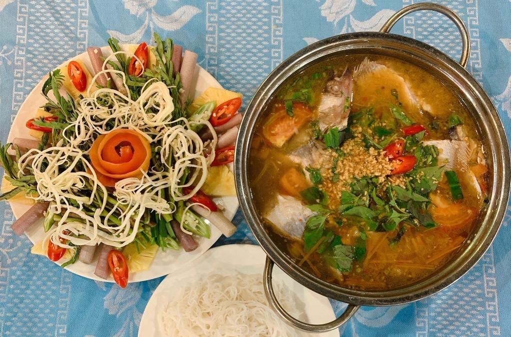 Wallago catfish sour soup