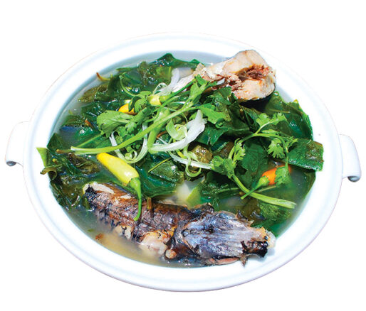 flyingfish soup with gnetum